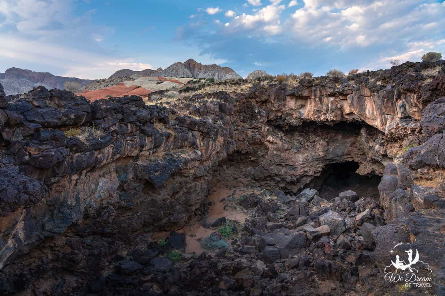 A lava tube along Lava Flow Trail in Snow Canyon.