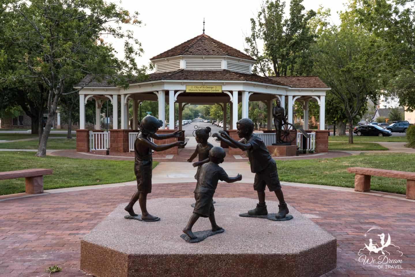 Historic Sculpture Garden in St George, Utah