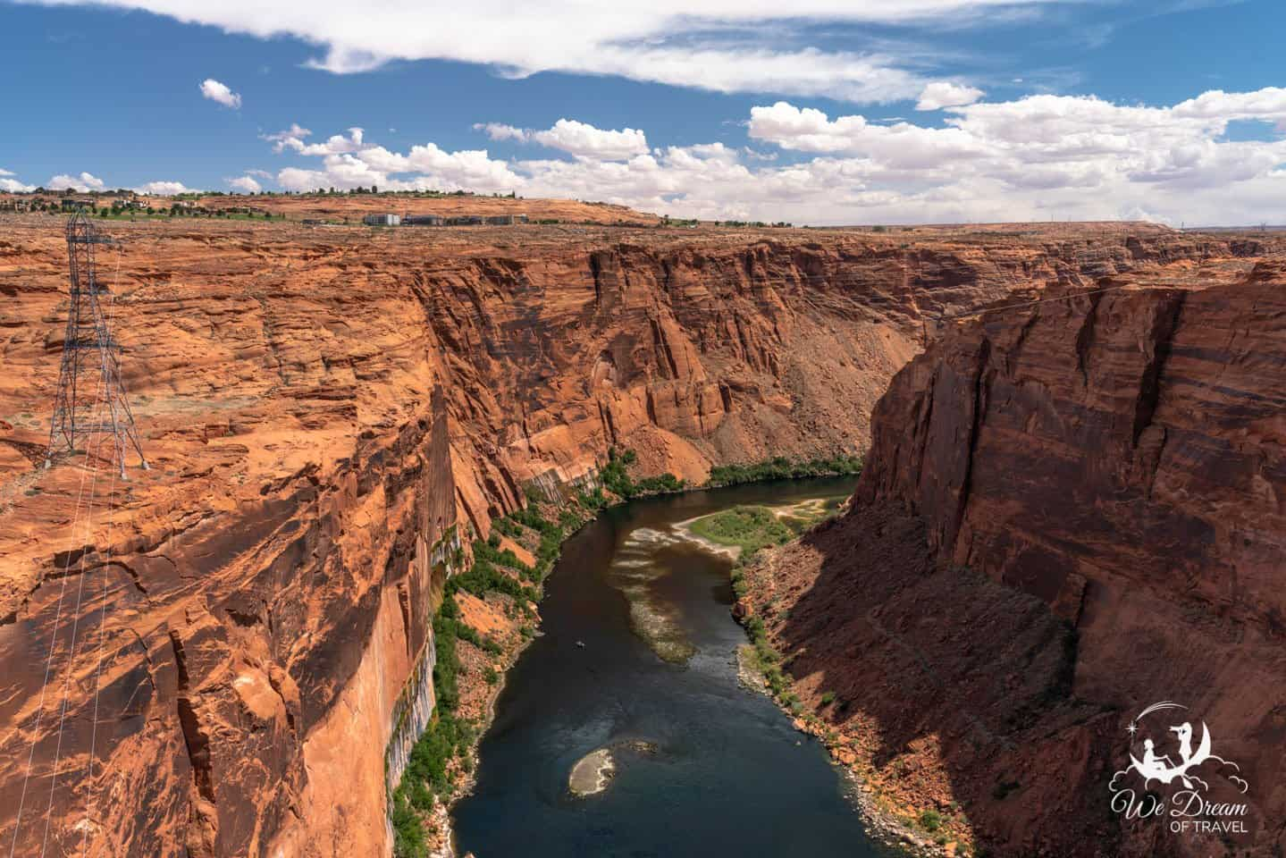 This photo, taken from the Glen Canyon Dam Bridge, provides some insight as to the unique beauty of Page, Arizona.