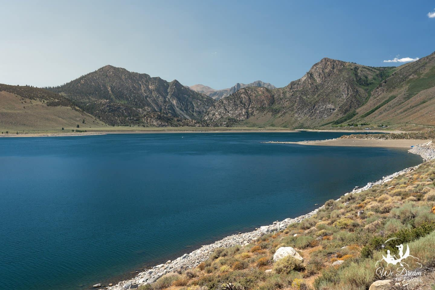 Grant Lake is the largest and first stop on the June Lakes Loop drive.