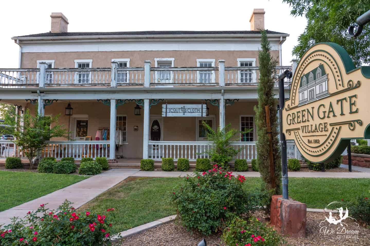 Green Gate Village in St George is a beautiful historic area to explore.