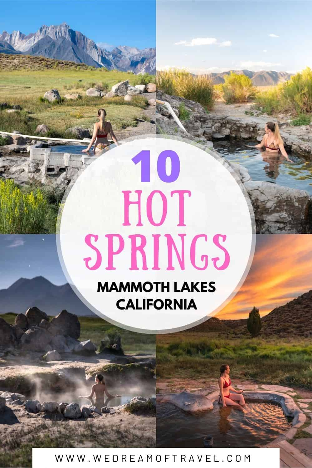 There are many secret hot springs in Mammoth Lakes and nearby areas in California.  Discover the exact locations, as well as useful information for responsibly visiting these geothermal wonders.   Mammoth Lakes California   Mammoth Lakes Hot Springs   California Hot Springs