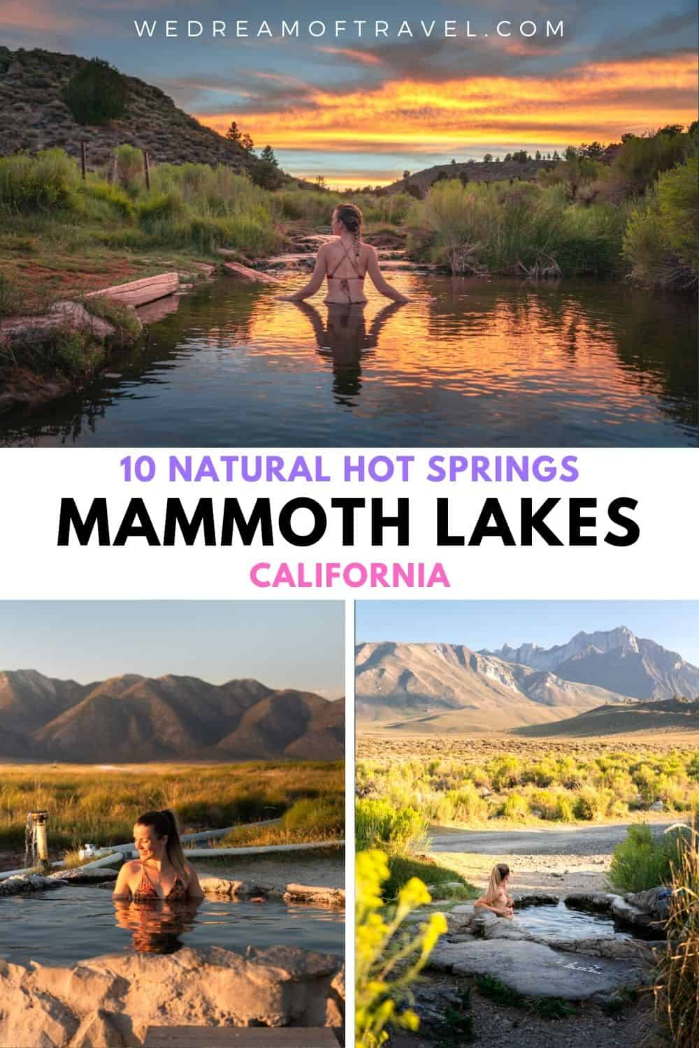 Mammoth Lakes is a geothermal wonderland with many naturally heated hot springs just waiting to be soaked in!  Find out the exact locations and everything you need to know about exploring these natural marvels.