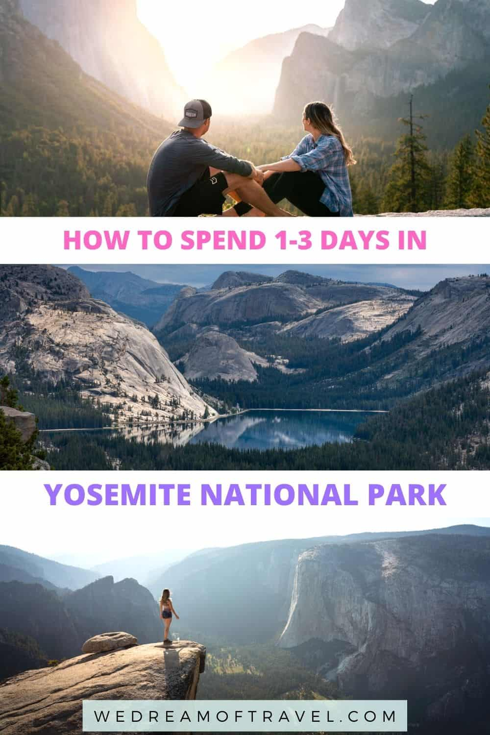 Discover all the must-see locations in Yosemite National Park and the perfect Yosemite itinerary for 1, 2 or 3 days in this spectacular national park.