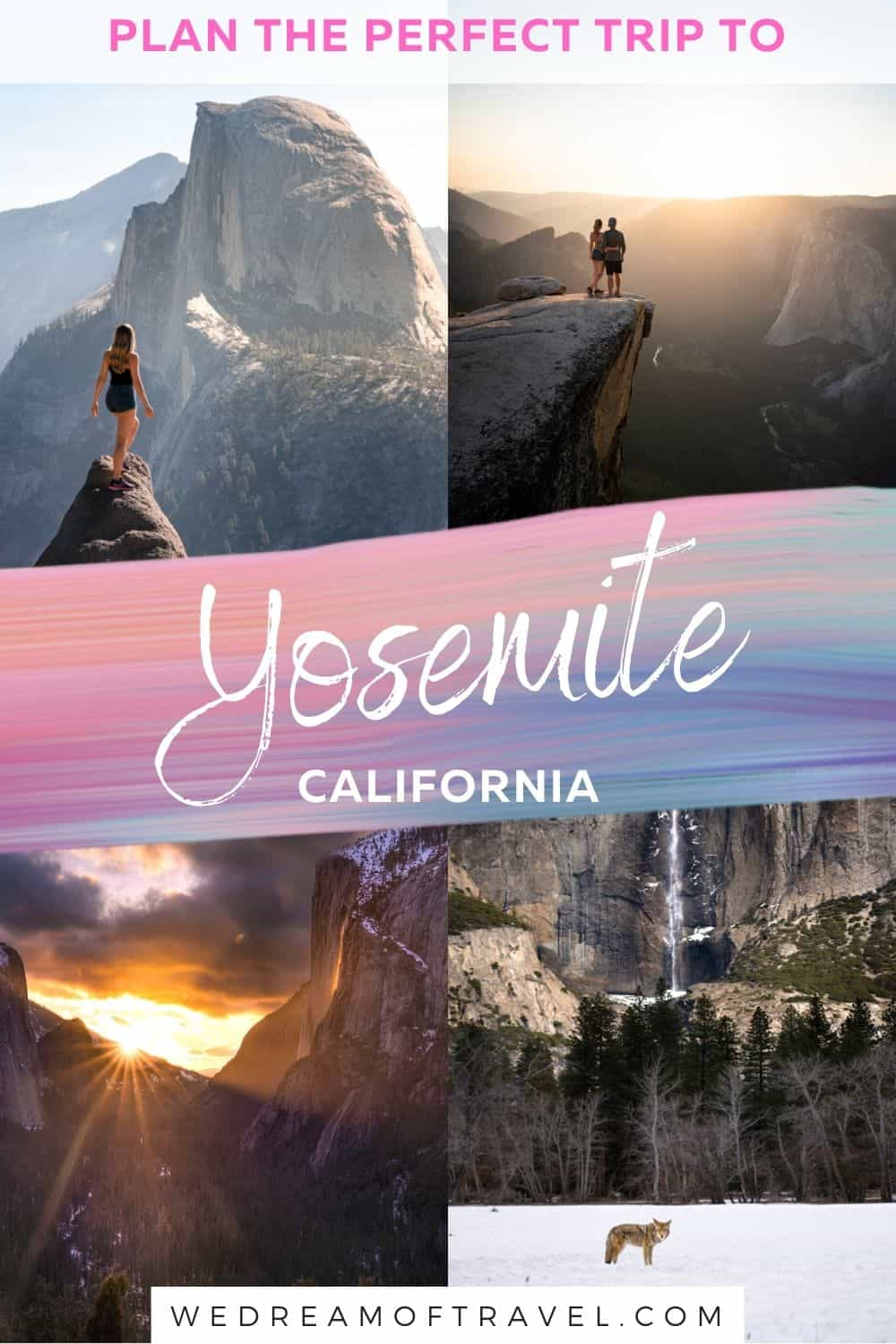 Plan the perfect Yosemite itinerary whether you have for one, two, or three days in Yosemite National Park.
