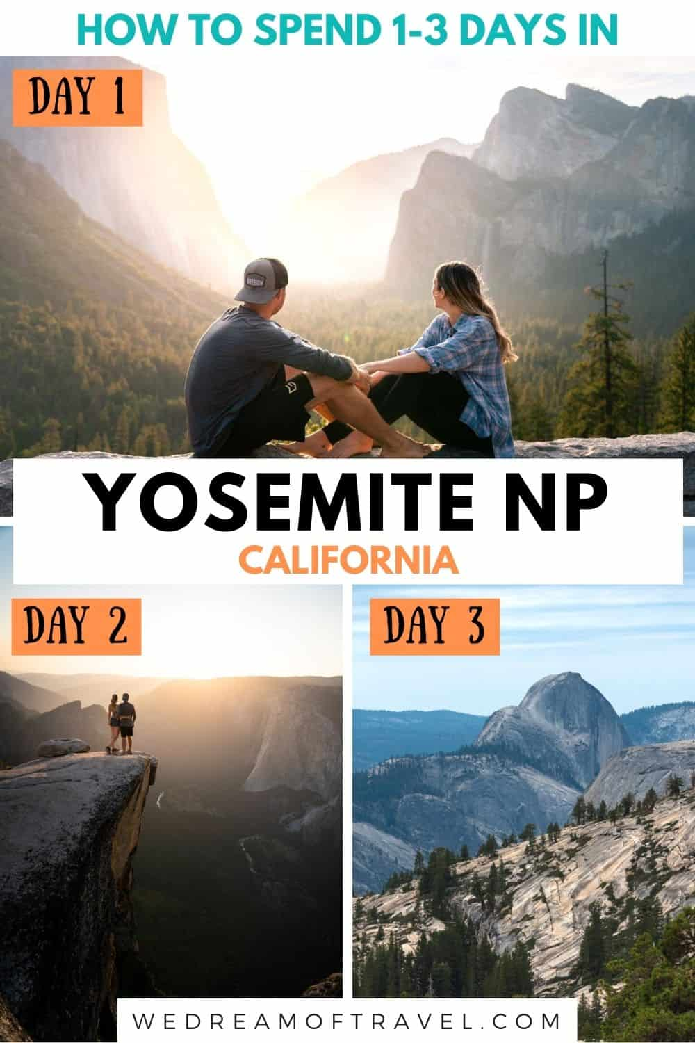 Discover the ultimate Yosemite itinerary for 1, 2 or 3 days in the most beautiful national park in the USA.  Including must-see places, viewpoints, hikes, where to stay, when to visit and more.