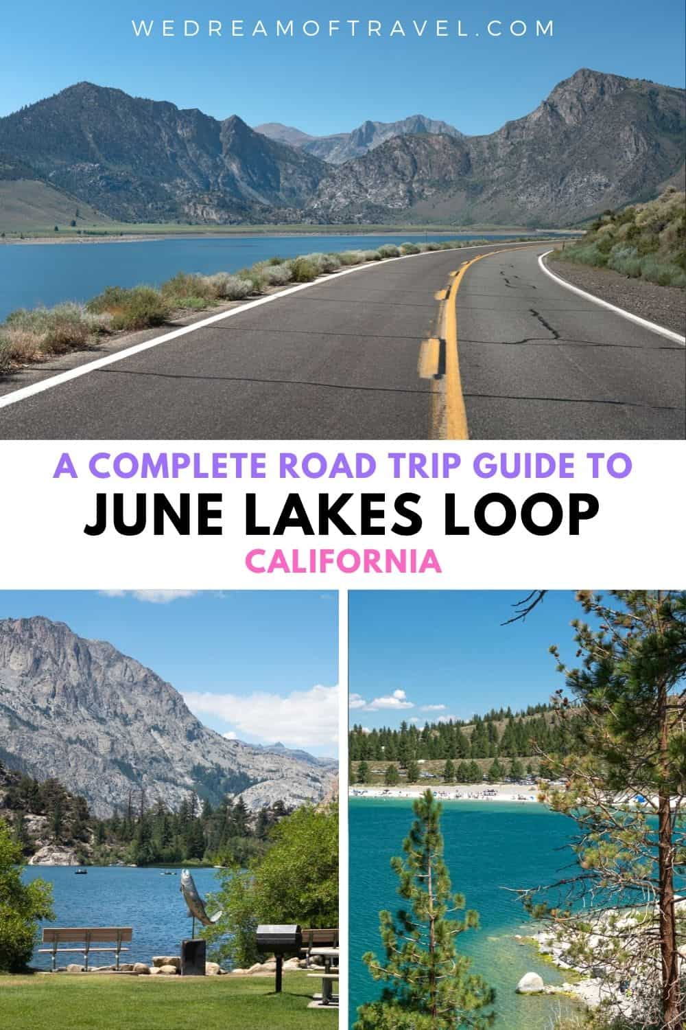 The June Lakes Loop in the Eastern Sierra Mountains is a spectacular alpine drive with shimmering lakes, hiking trails, fishing and boating, skiing, hot springs and more!  It makes for the perfect weekend getaway or scenic detour on your way to Yosemite or Mammoth Lakes, California.