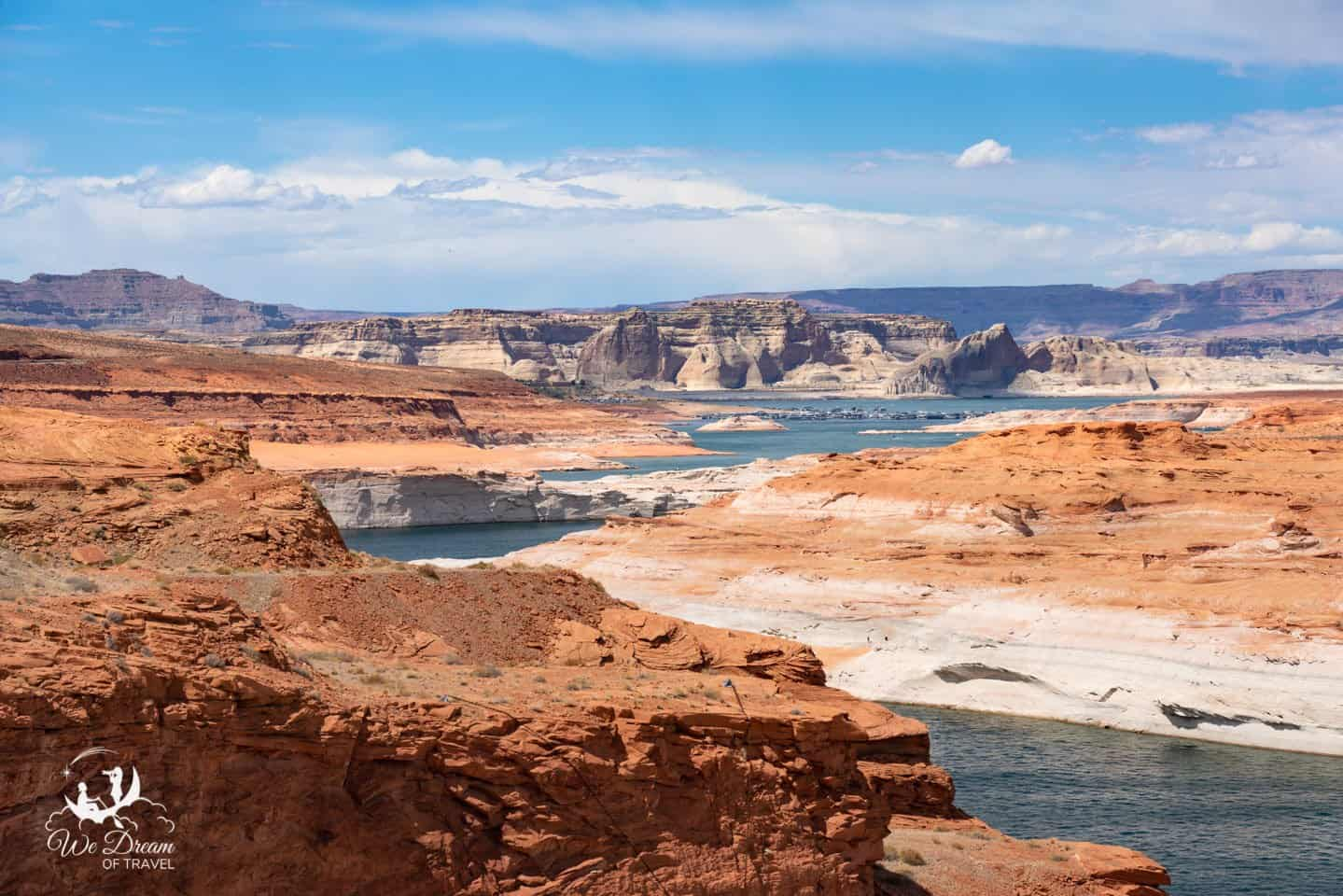 The turquoise water and orange sandstone of Lake Powell combine for a distinct, unique landscape as beautiful as any you'll find.