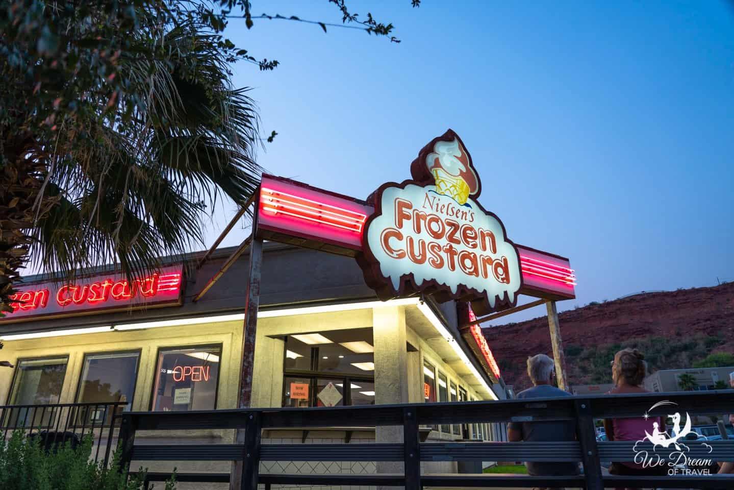Nielsen's Frozen Custard is a firm favorite for dessert in St George
