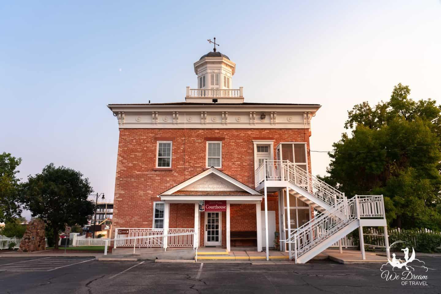 Historic Pioneer Courthouse in St George Utah