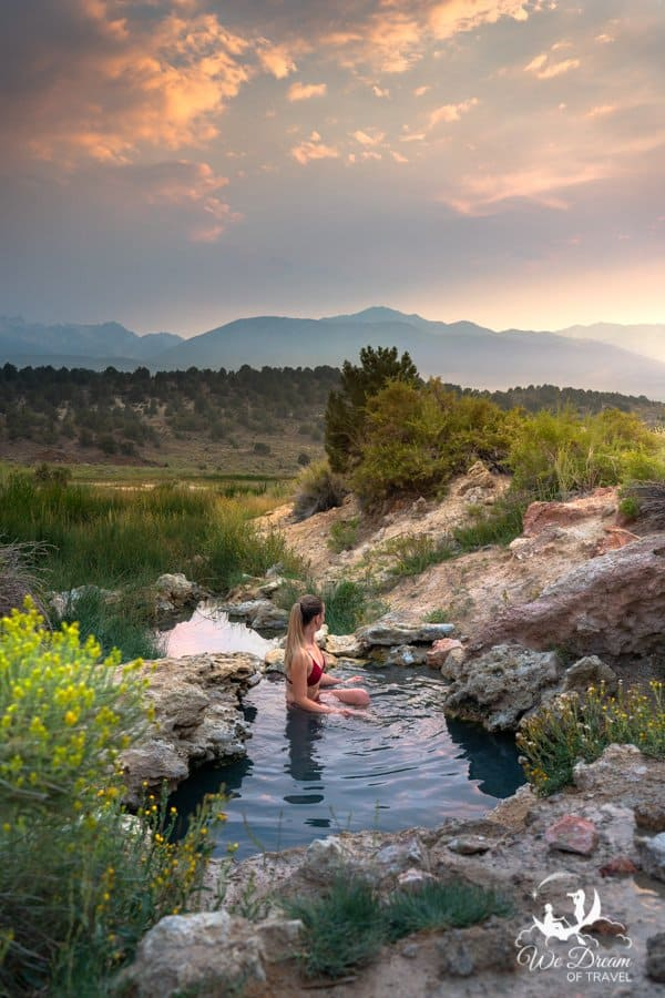 One of the secret hot springs at Travertine
