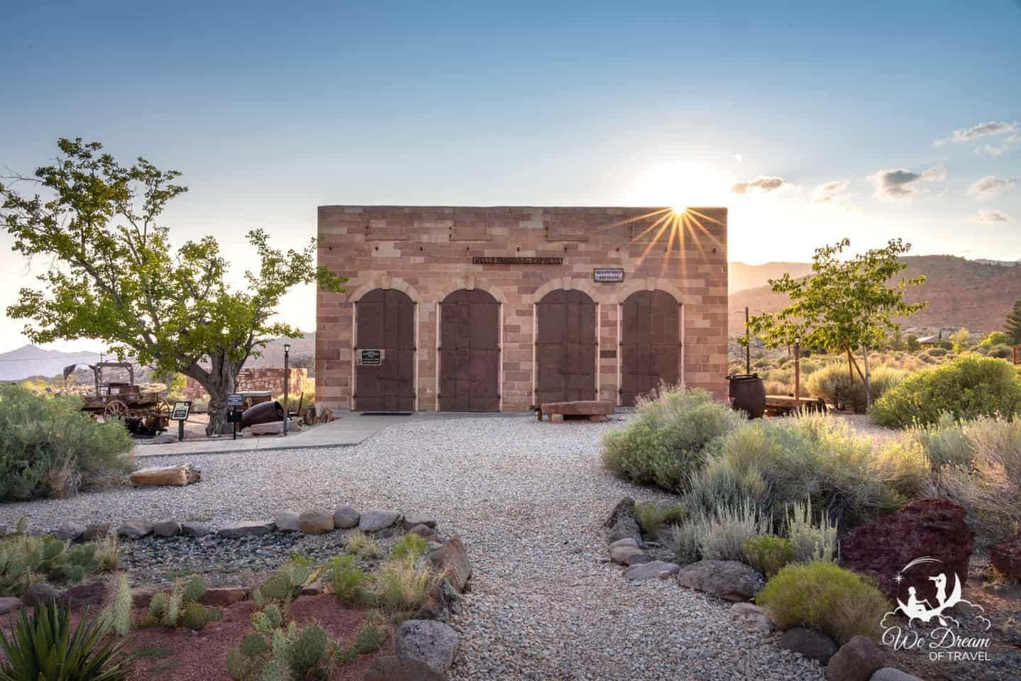 Wells Fargo building and museum in Silver Reef Ghost Town Utah