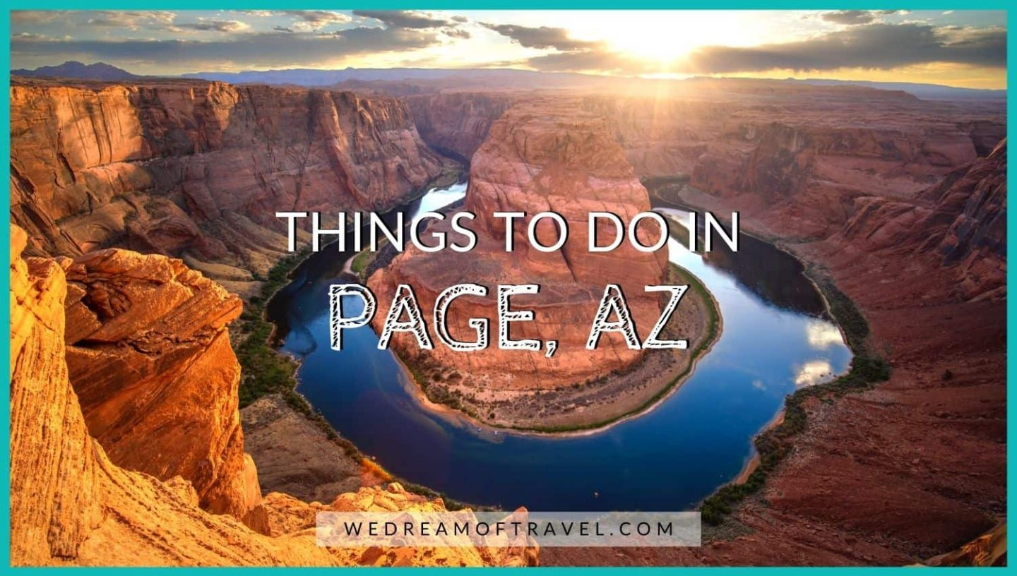 Cover photo for a travel guide for things to do in Page, AZ
