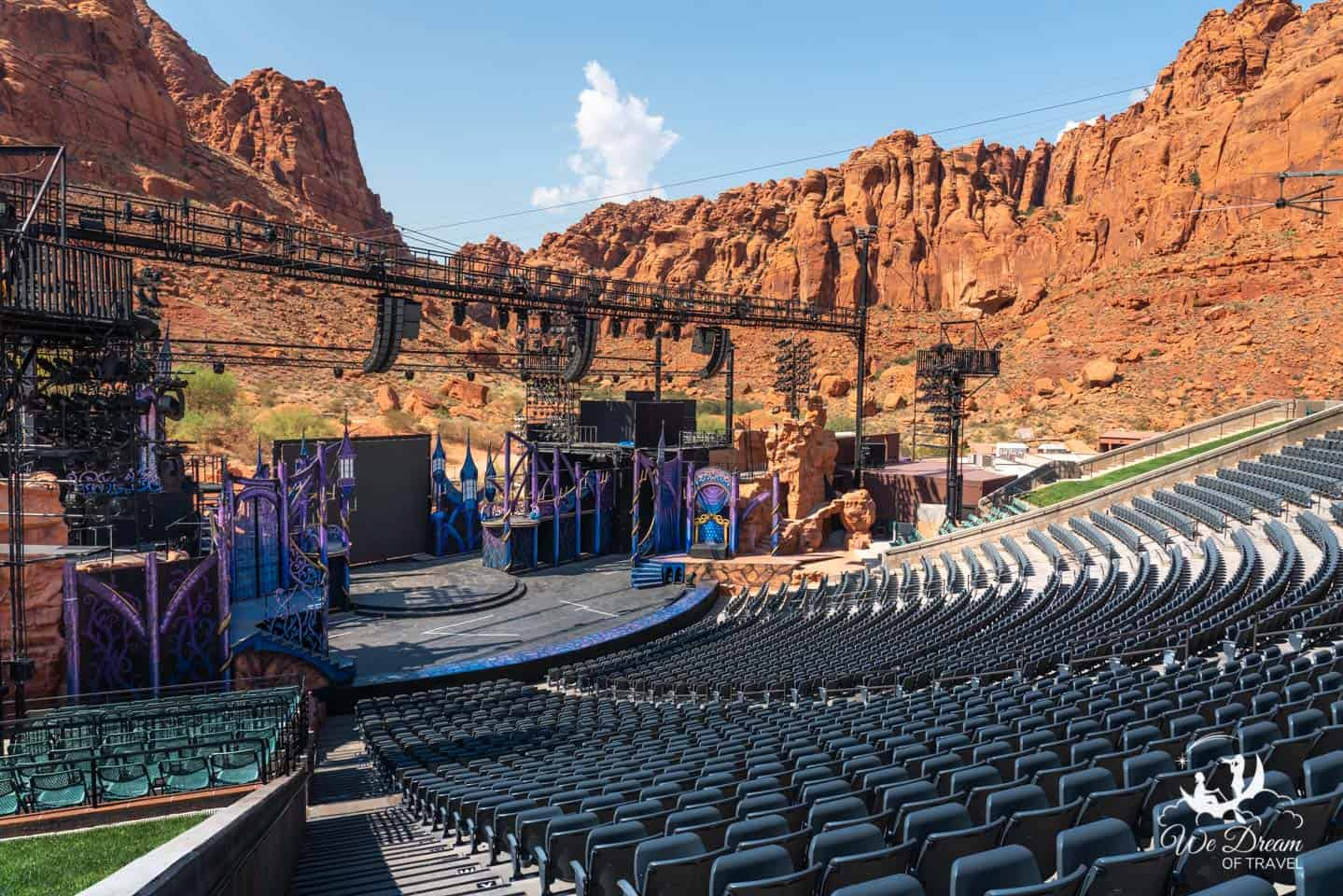 Catching a show at the amphitheater at Tuacahn Center for the Arts is one of the best things to do in St George.