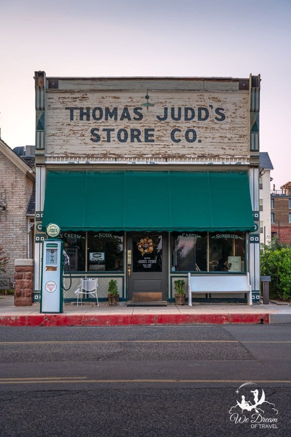 Thomas Judd's Store in historic downtown is one of the best places to visit in St George Utah