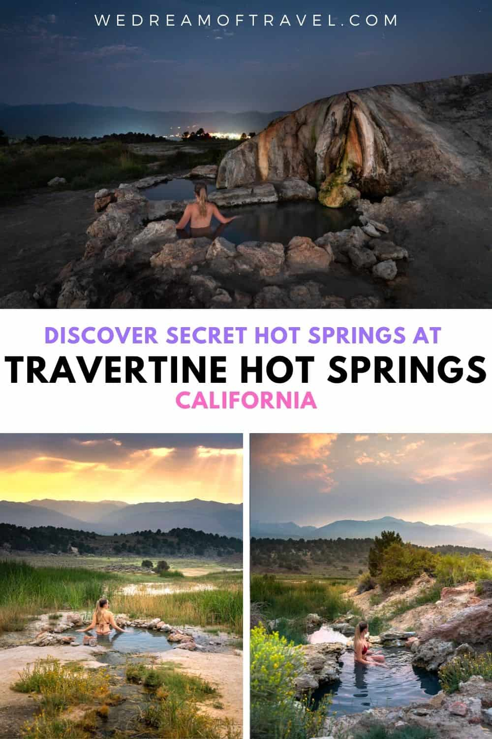 Discover everything you need to know for visiting Travertine Hot Springs, California including exactly where to find the secret hot springs! These are some of the best hot springs in the USA and well worth adding to your California road trip.
