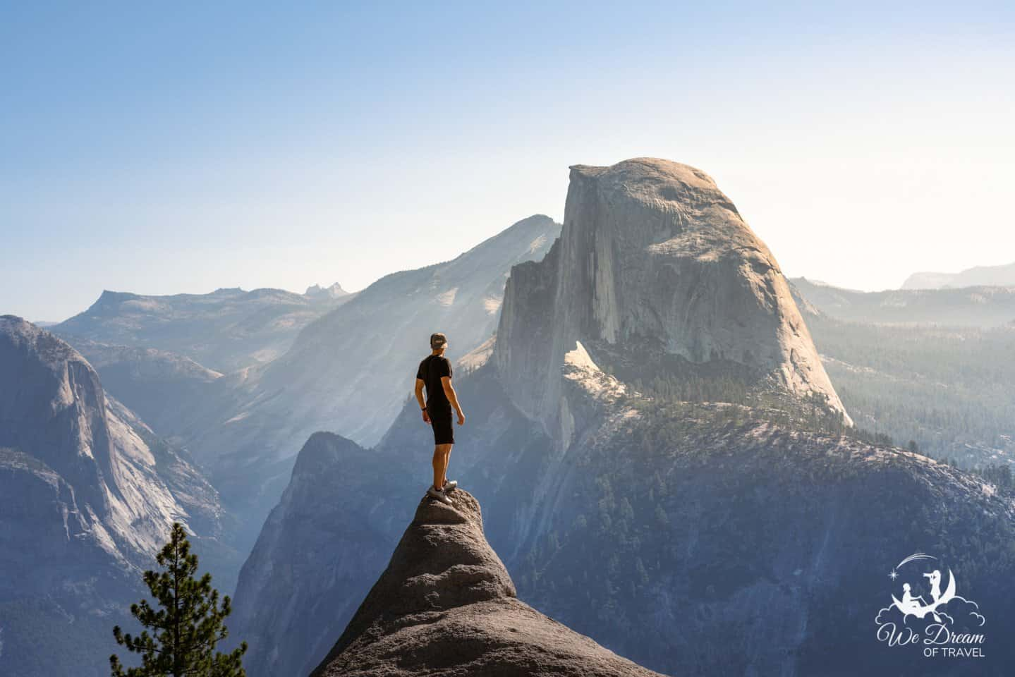 Day 2 of the Yosemite itinerary focuses on the breathtaking views along Glacier Point road.