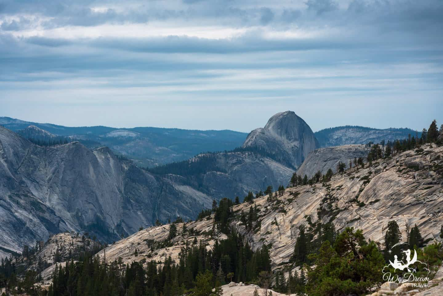 Be sure to walk the short trail for a better view of Half Dome from Olmsted Point.