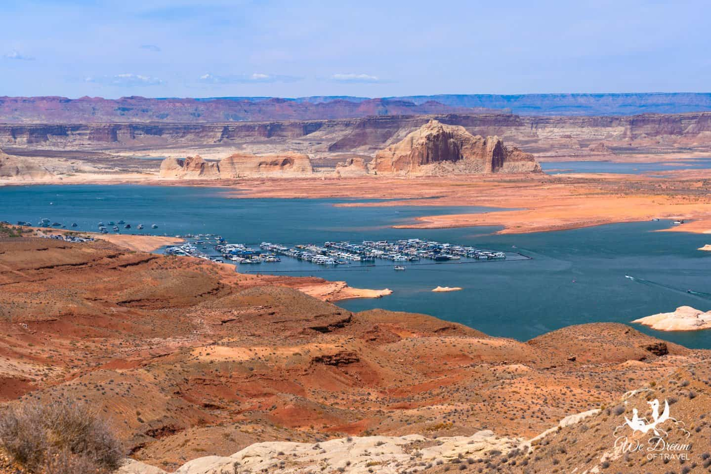 The view of Lake Powell from Wahweap Overlook is among the best you'll find near Page.