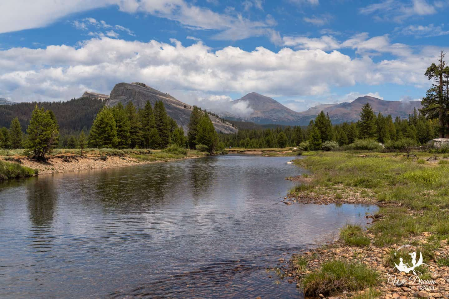 Landscape photography of the Tuolumne Meadows on a three day itinerary for Yosemite NP.