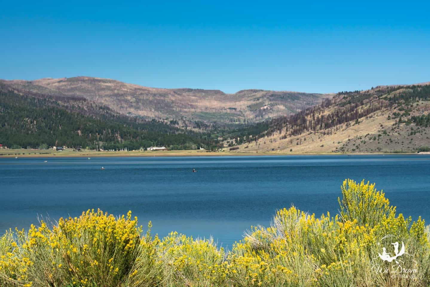 On your way out of the Dixie National Forest, stop by and enjoy the blue waters of Panguitch Lake.