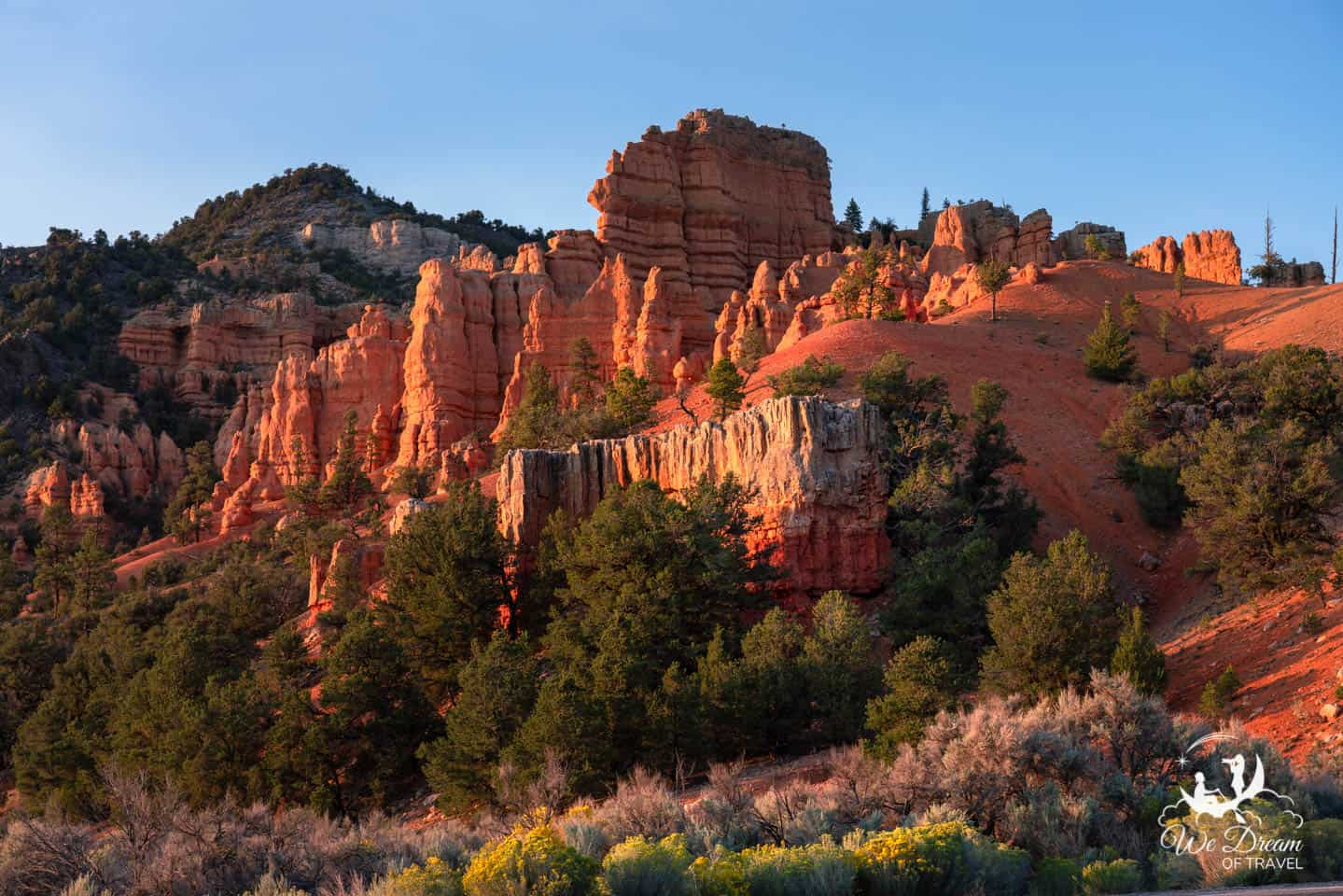 You will discover a color palette like no other in Red Canyon as you leave Bryce Canyon toward Zion.