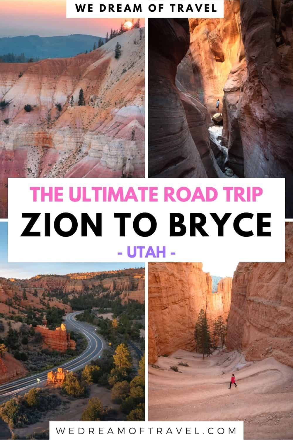 Discover a myriad of must-see stops on the drive from Zion to Bryce Canyon National Park in this Southern Utah road trip guide.  Most people miss these spectacular places and drive directly from Zion to Bryce, skipping some of the most beautiful places in the state.  Don't miss out too!